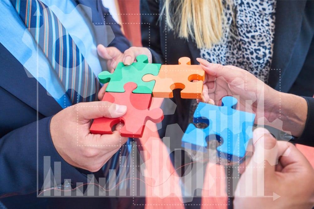 Agiles Projektmanagement Scrum Puzzleteile