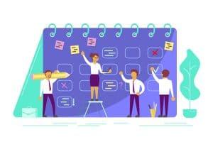 agile organisation, zeitplan, Aufgaben, team